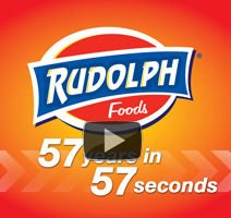 Rudolph Foods Pork Rinds 57 Years in 57 Seconds