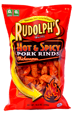 RudolphsPorkRinds HotAndSpicyPorkRinds Real Men Eat (Spicy) Rinds