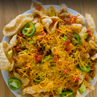 RudolphsPorkRindNachos Nosh on the perfect plate of nachos!