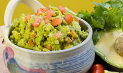 guacamole dip with pork rinds A Healthy Taste for Nutrition Month